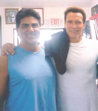 Dennis Tinerino with his old friend, Arnold Schwarzenegger